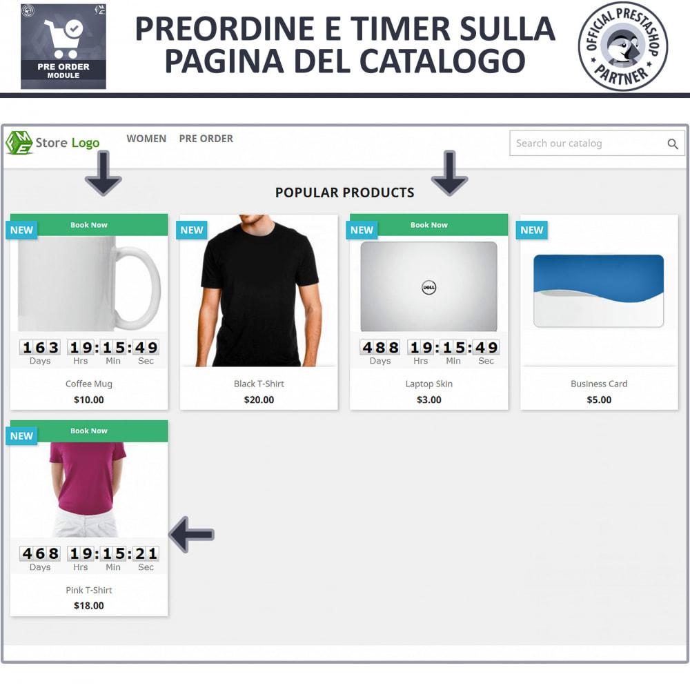 module - Iscrizione e Processo di ordinazione - Pre-Order - Advance Booking   Out of Stock Selling - 2