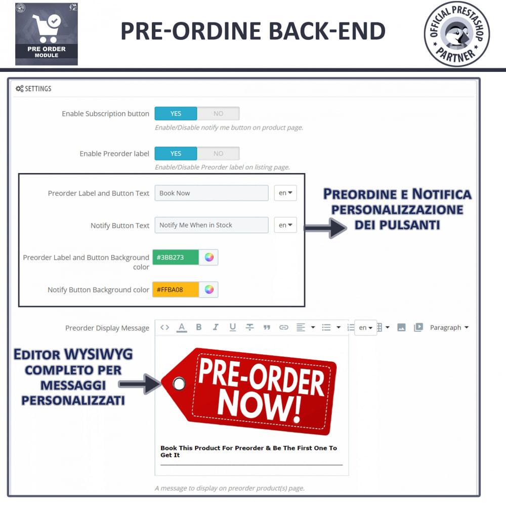 module - Iscrizione e Processo di ordinazione - Pre-Order - Advance Booking   Out of Stock Selling - 14