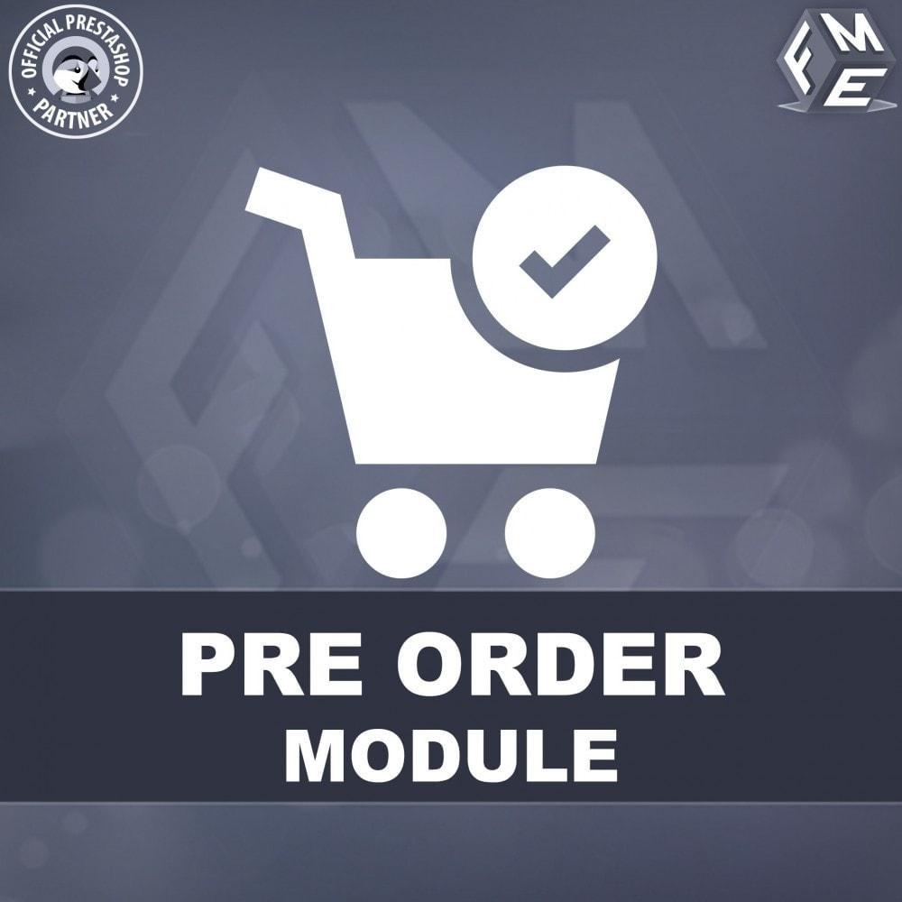 module - Cadastro e Processo de Pedido - Pre-Order - Advance Pre-Order Booking - 1