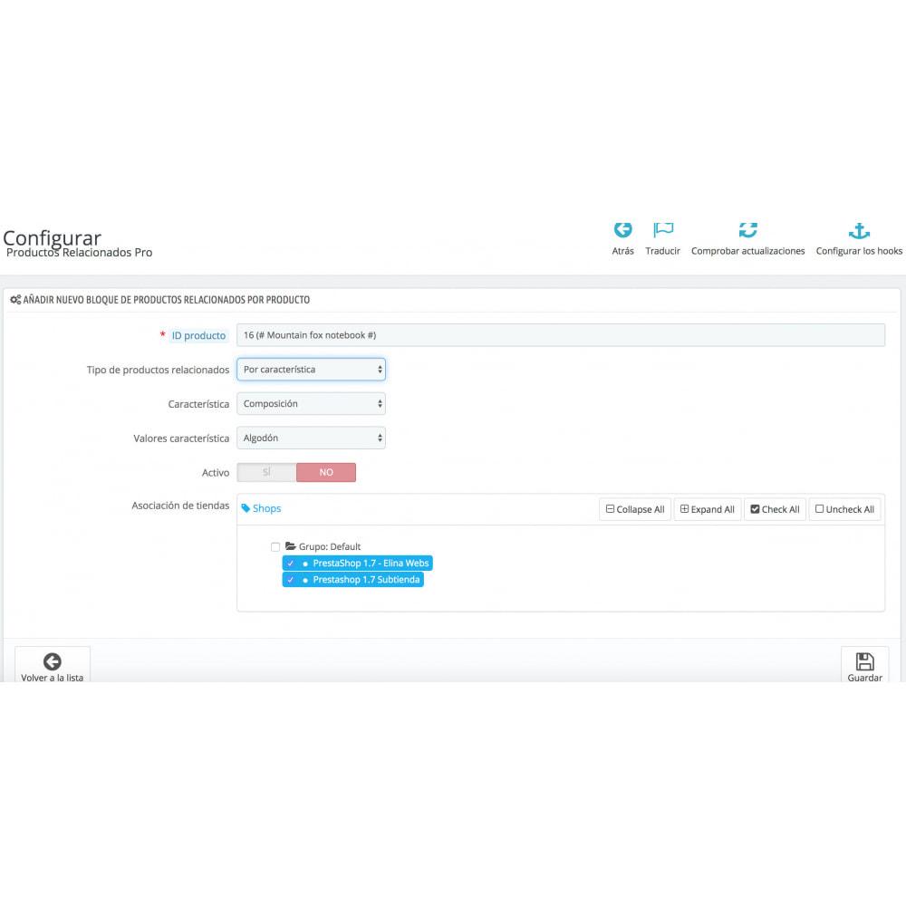 module - Ventas cruzadas y Packs de productos - Slider Productos Relacionados Pro - 7