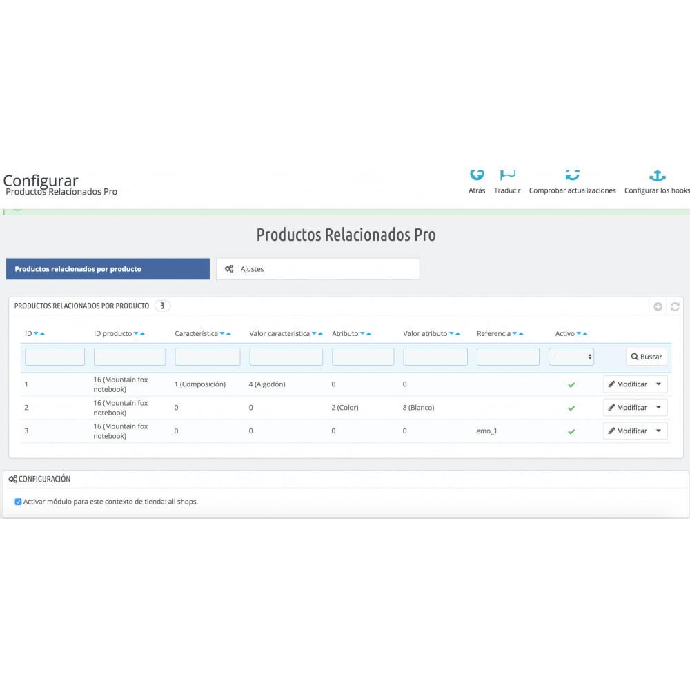 module - Ventas cruzadas y Packs de productos - Slider Productos Relacionados Pro - 10