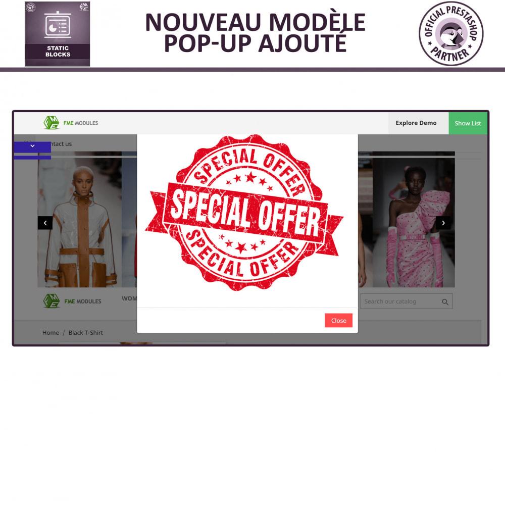 module - Blocs, Onglets & Bannières - Blocs Statiques - Ajouter HTML, Texte, Blocs de Média - 6