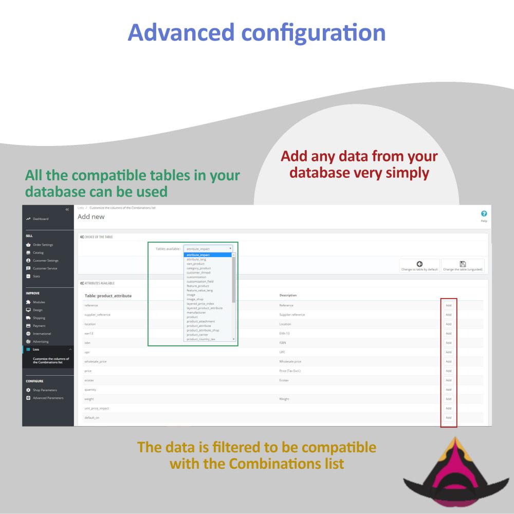 module - Вариаций и персонализации товаров - List of combinations for the back-office - 4