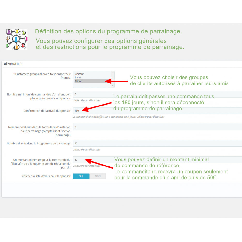 module - Fidélisation & Parrainage - Programme de parrainage avec recompenses - 4