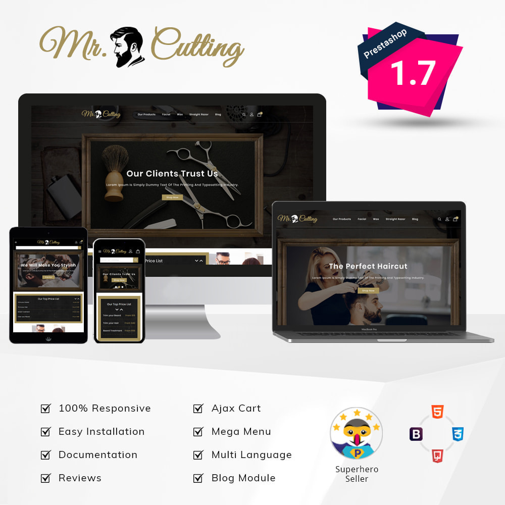 theme - Lingerie & Adulte - Mr.Cutting - Beauty Store - 1