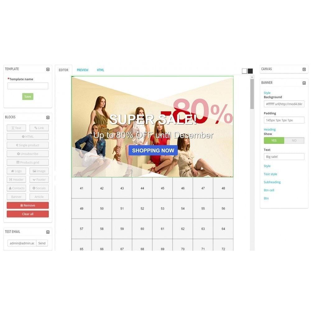 module - Newsletter & SMS - Custom Mailer SeoSA - newsletter - 9
