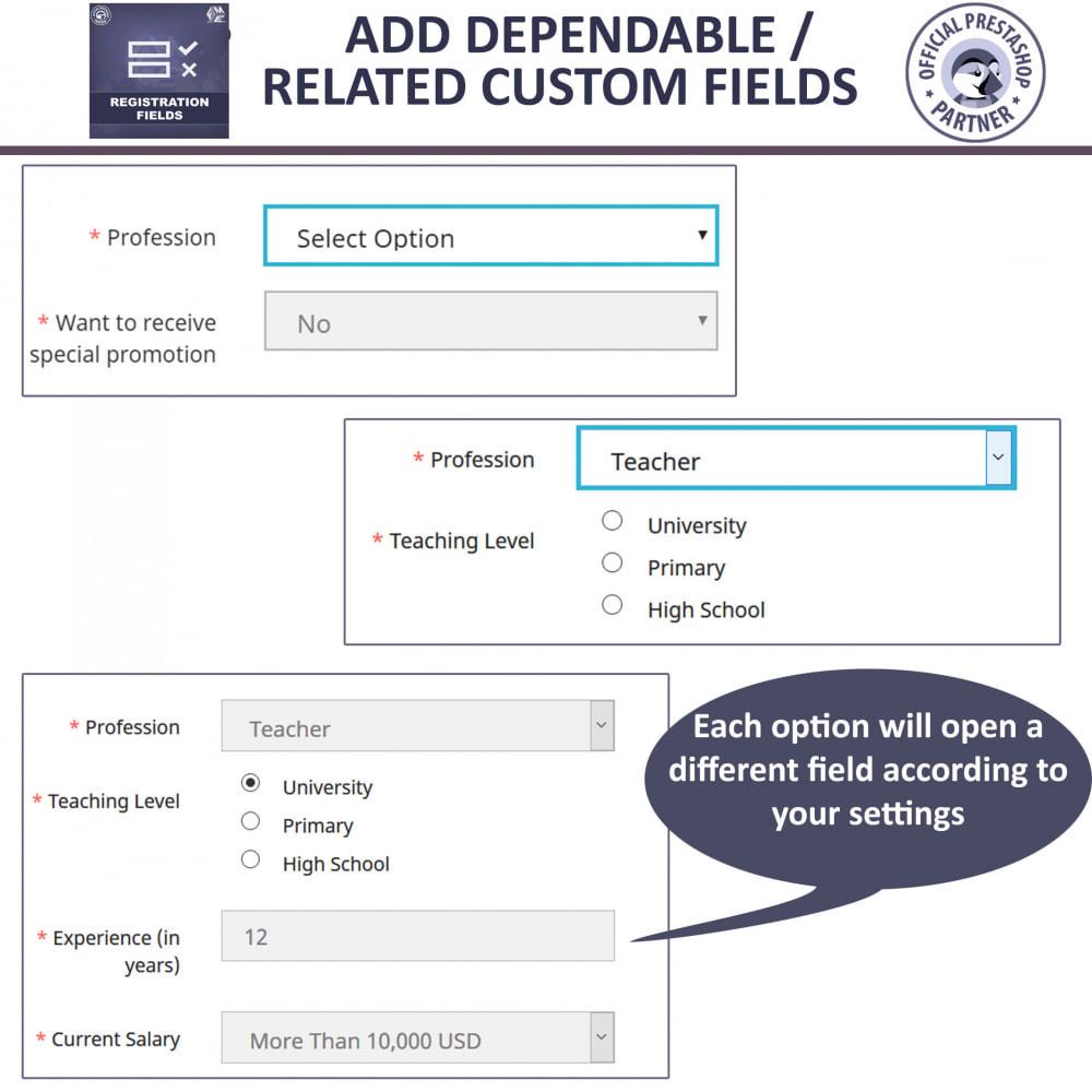 module - Registration & Ordering Process - Custom Registration Form - Add Registration Fields - 3
