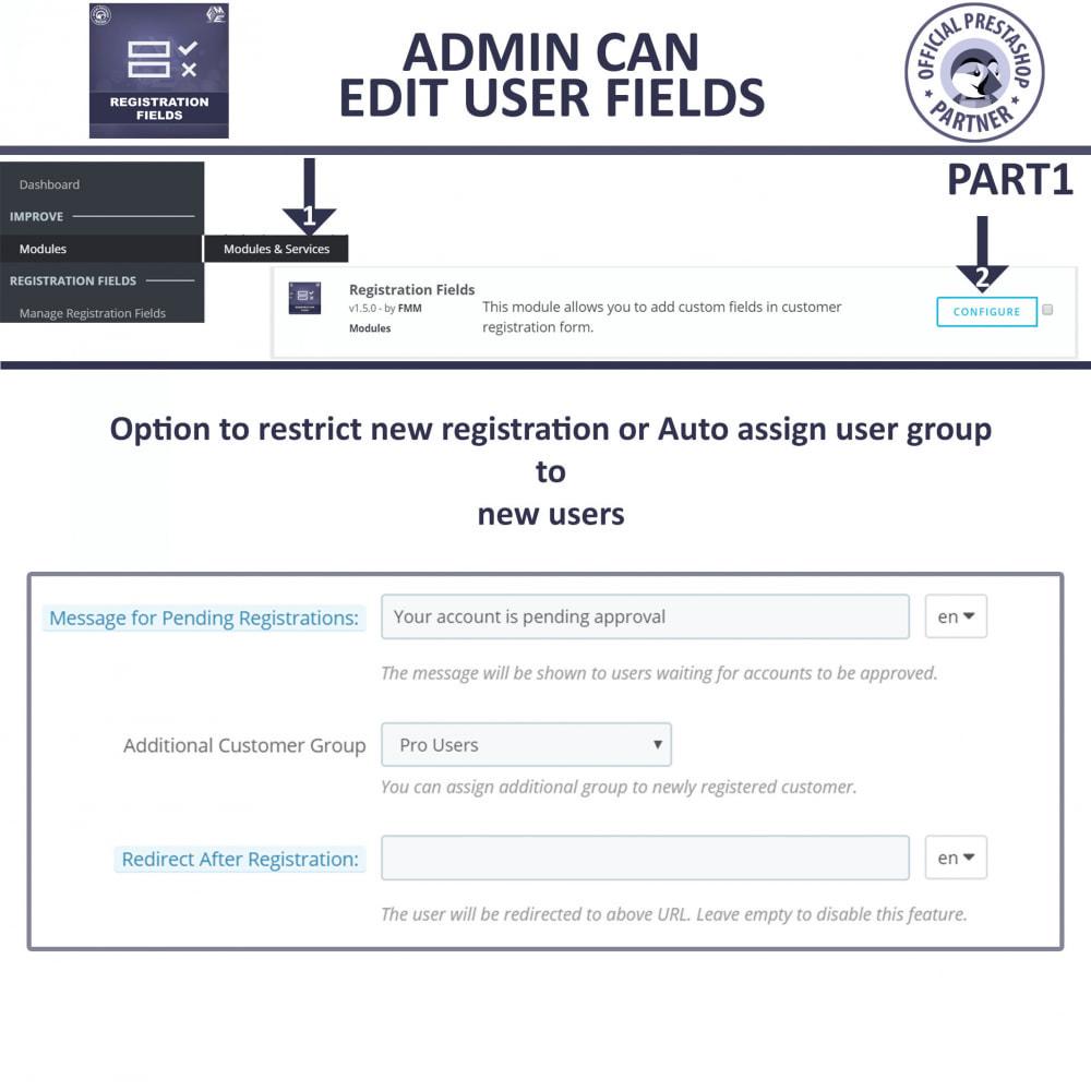 module - Registration & Ordering Process - Custom Registration Form - Add Registration Fields - 9