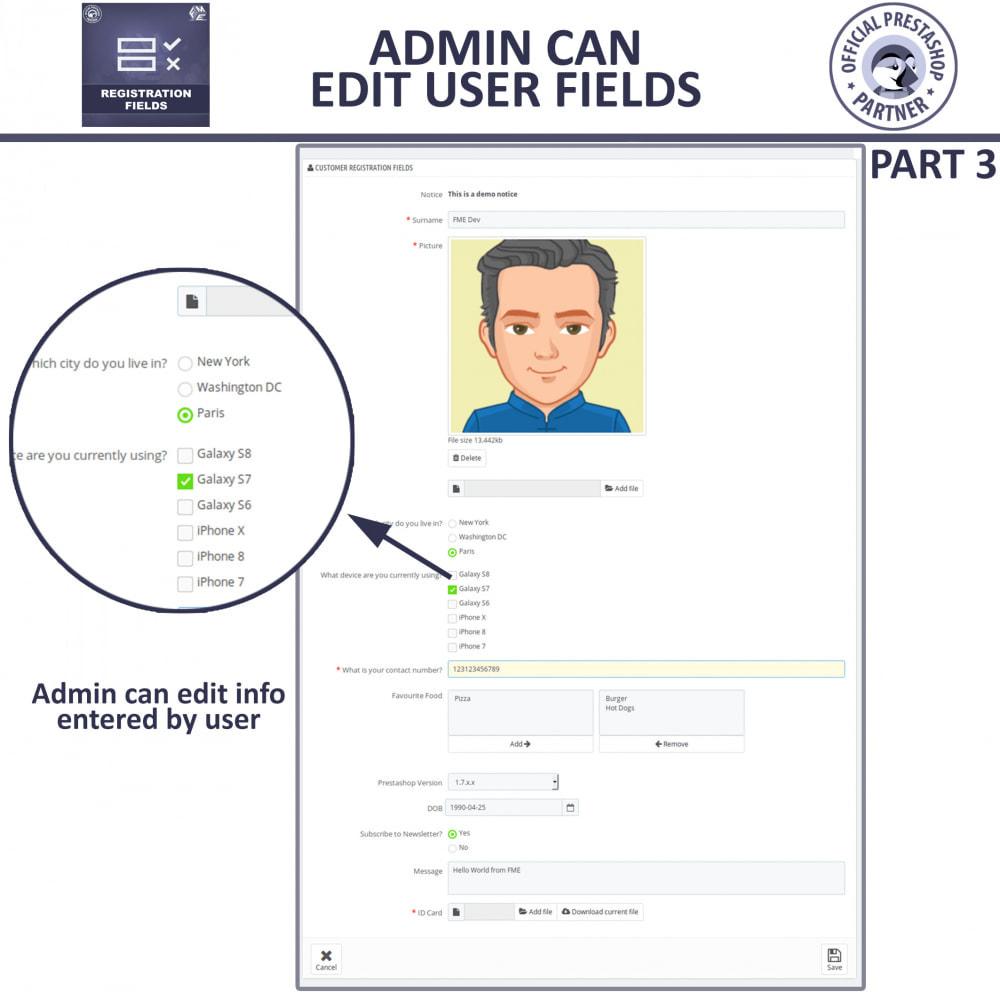 module - Registration & Ordering Process - Custom Registration Form - Add Registration Fields - 11