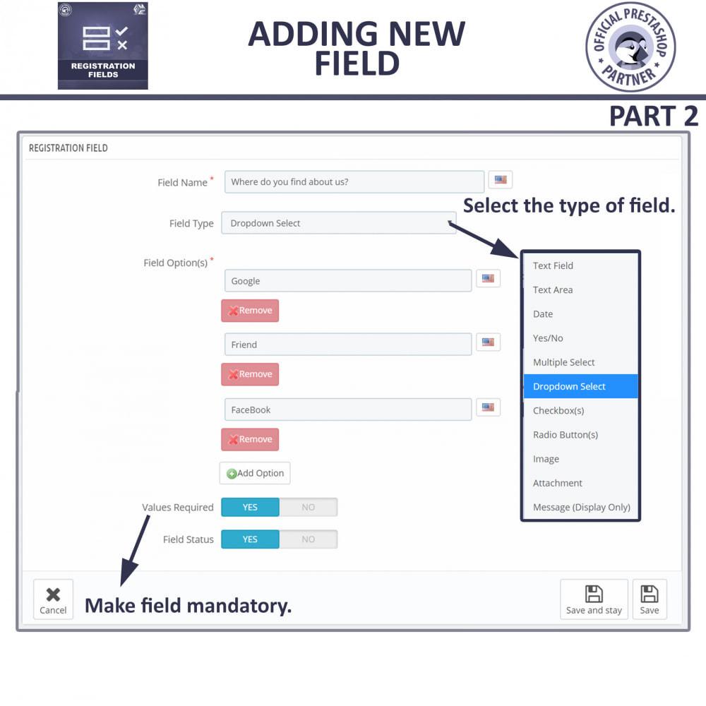 module - Registration & Ordering Process - Custom Registration Form - Add Registration Fields - 13