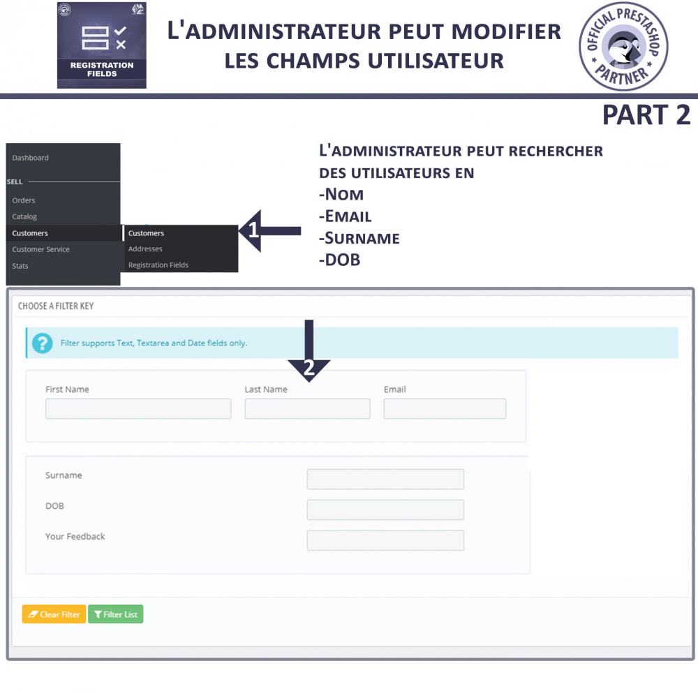 module - Inscription & Processus de commande - Champs d'inscription - Ajouter des champs personnalisés - 4