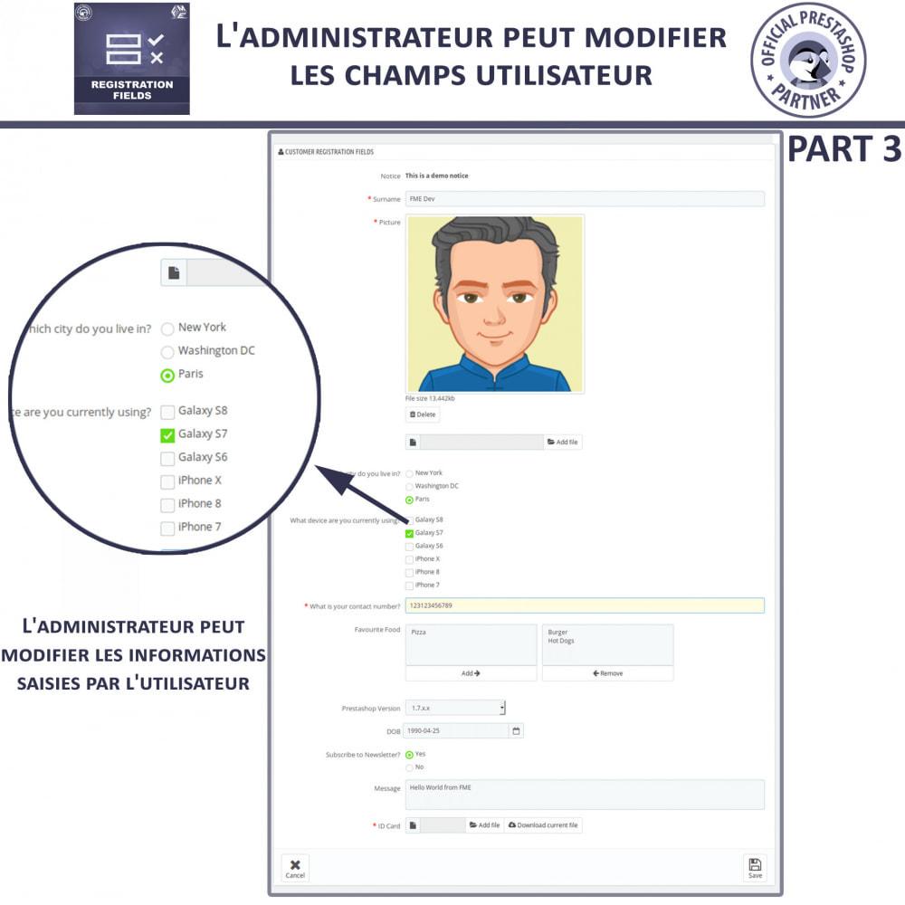 module - Inscription & Processus de commande - Champs d'inscription - Ajouter des champs personnalisés - 11