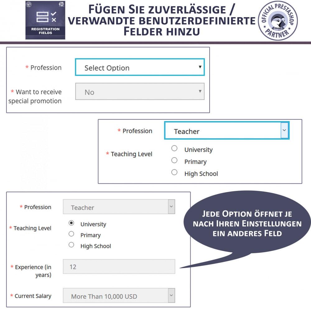 module - Anmeldung und Bestellvorgang - Registrierung Felder, Fügen Sie Kundenattribute - 3