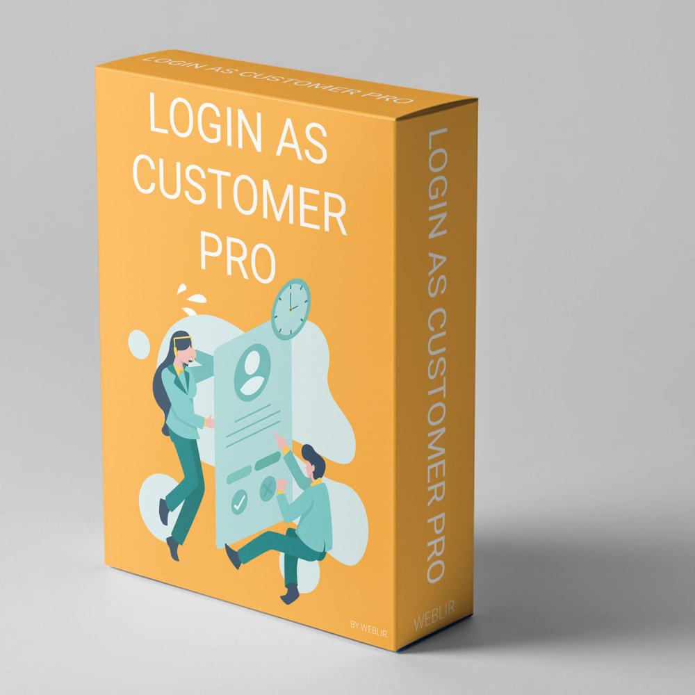 module - Login/Connessione - Login as customer PRO - 1