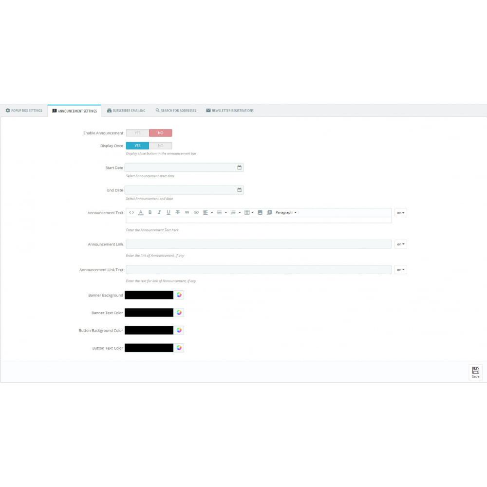 module - Newsletter & SMS - Newsletter popup - 1