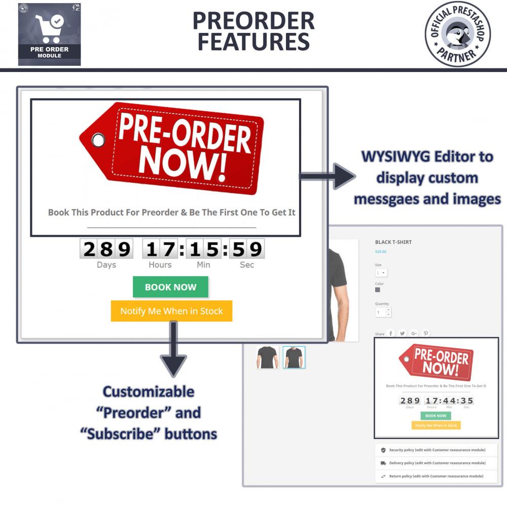 module - Cadastro e Processo de Pedido - Pre-Order - Advance Pre-Order Booking - 5