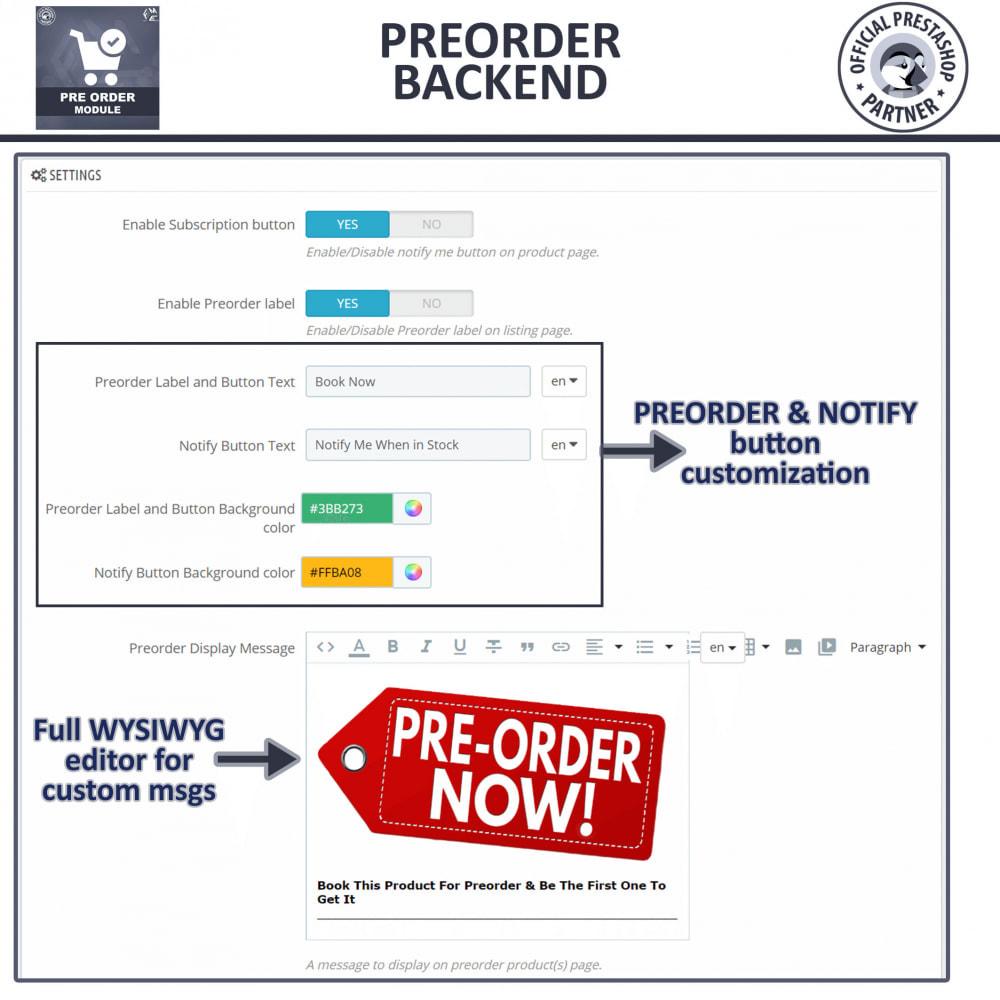 module - Cadastro e Processo de Pedido - Pre-Order - Advance Pre-Order Booking - 15