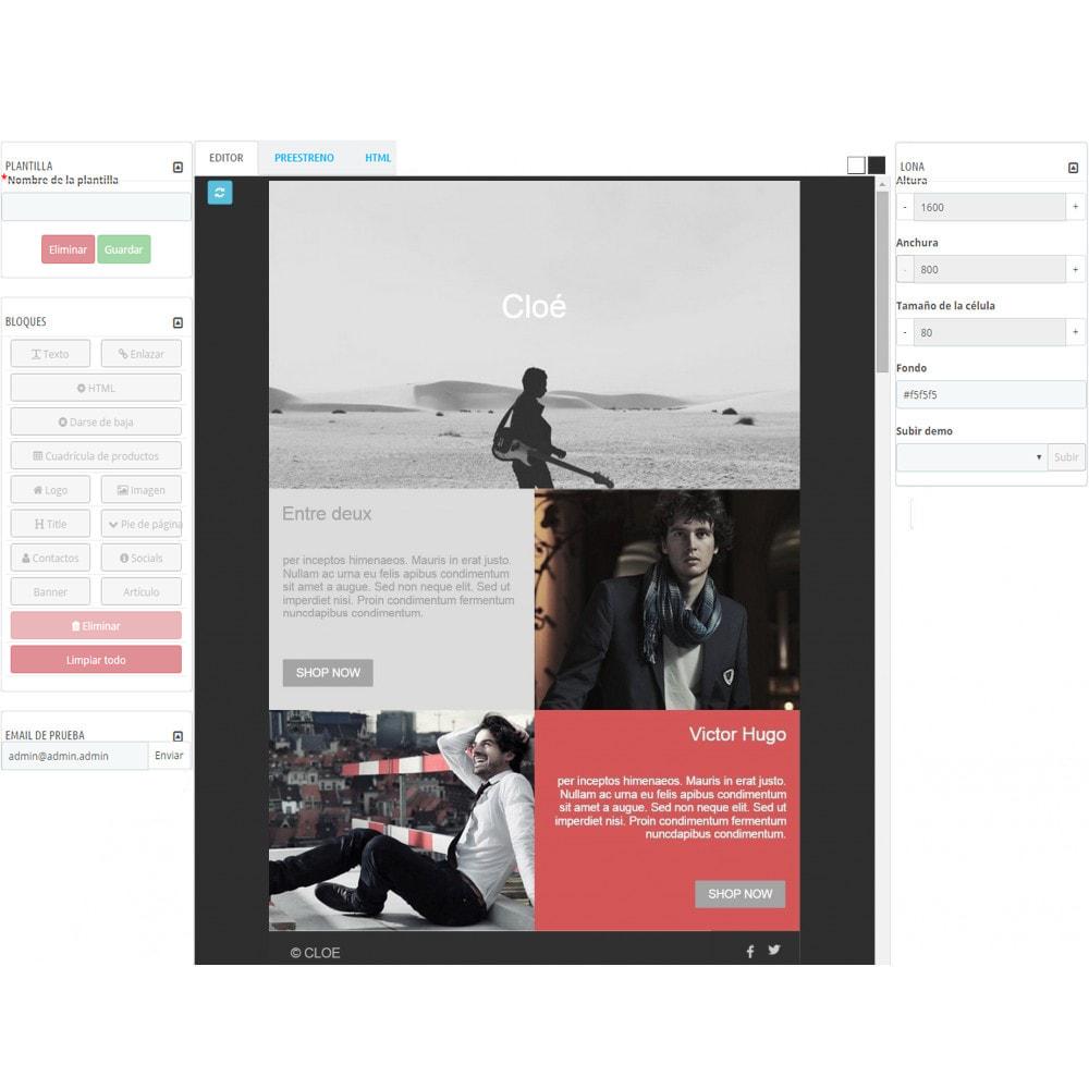 module - Newsletter y SMS - Custom Mailer SeoSA - De boletín de noticias - 6