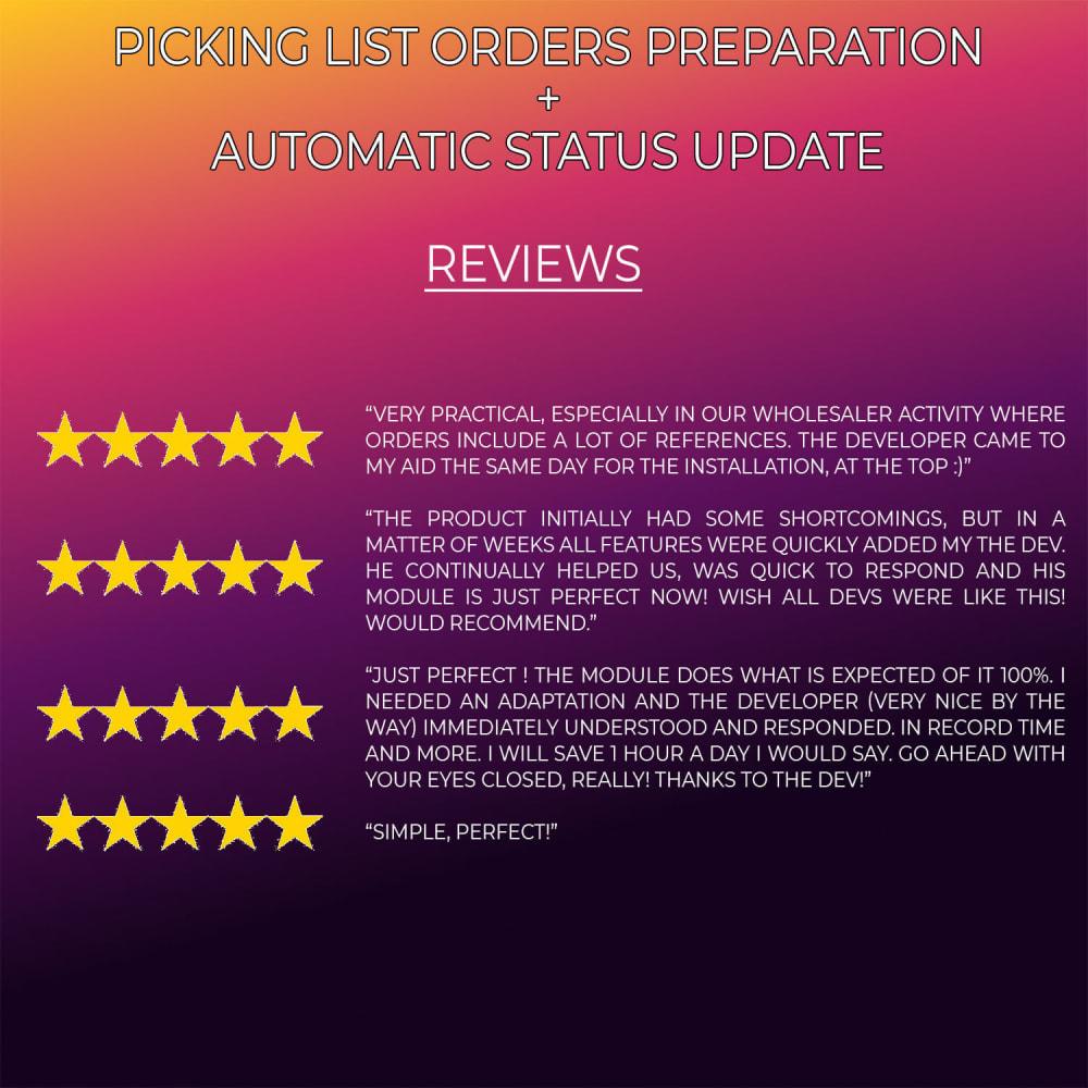 module - Gerenciamento de pedidos - Picking list orders preparation automatic status update - 6
