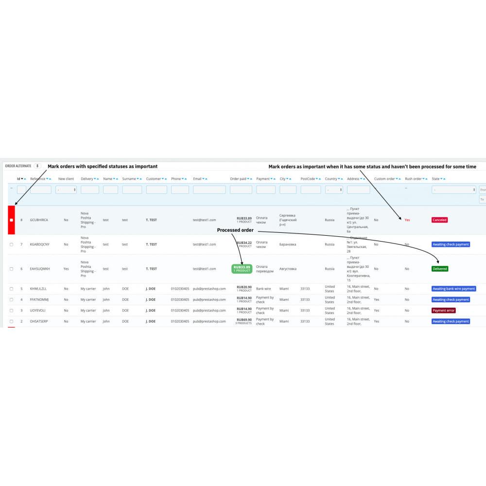 module - Zarządzanie zamówieniami - Configurable back-end order list view - 2