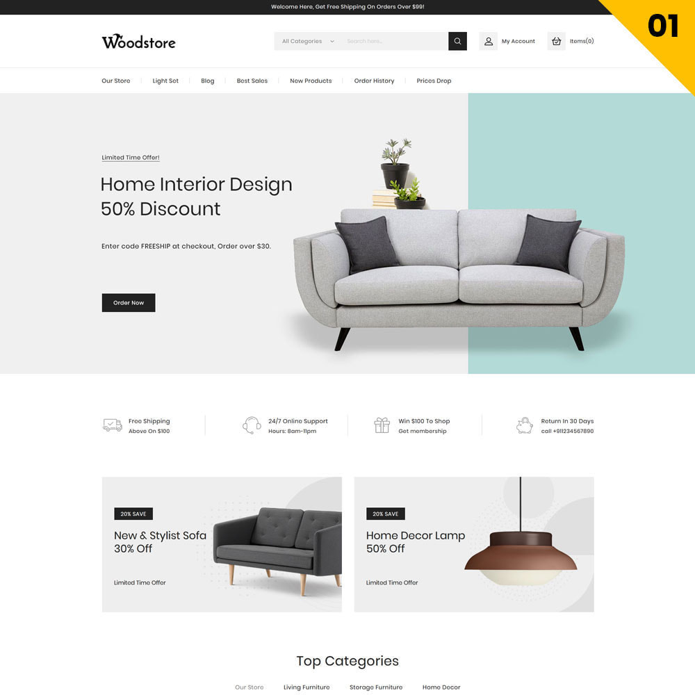 theme - Дом и сад - Wood - The Furniture Store - 3