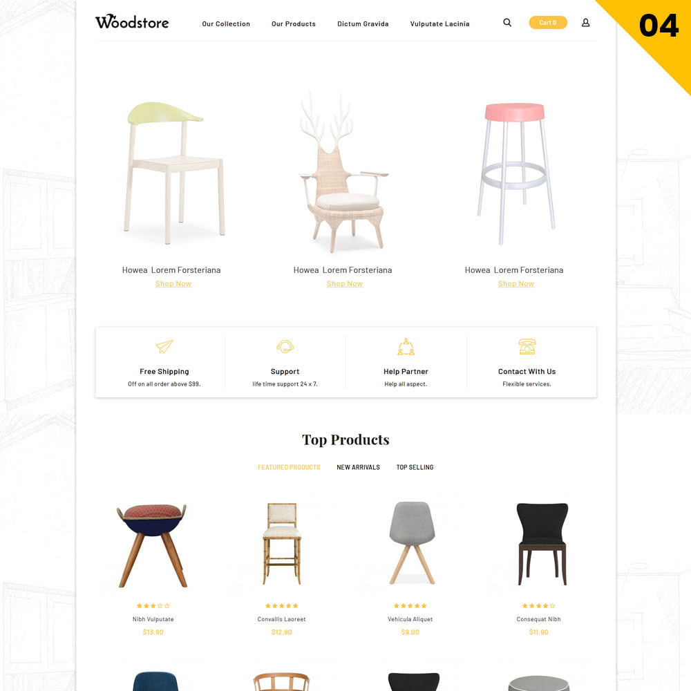 theme - Дом и сад - Wood - The Furniture Store - 6