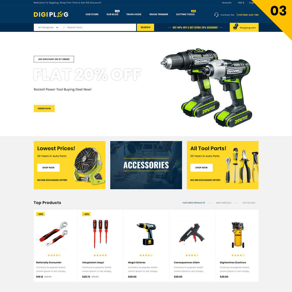 theme - Elettronica & High Tech - Digiplug - Il mega negozio elettronico - 5
