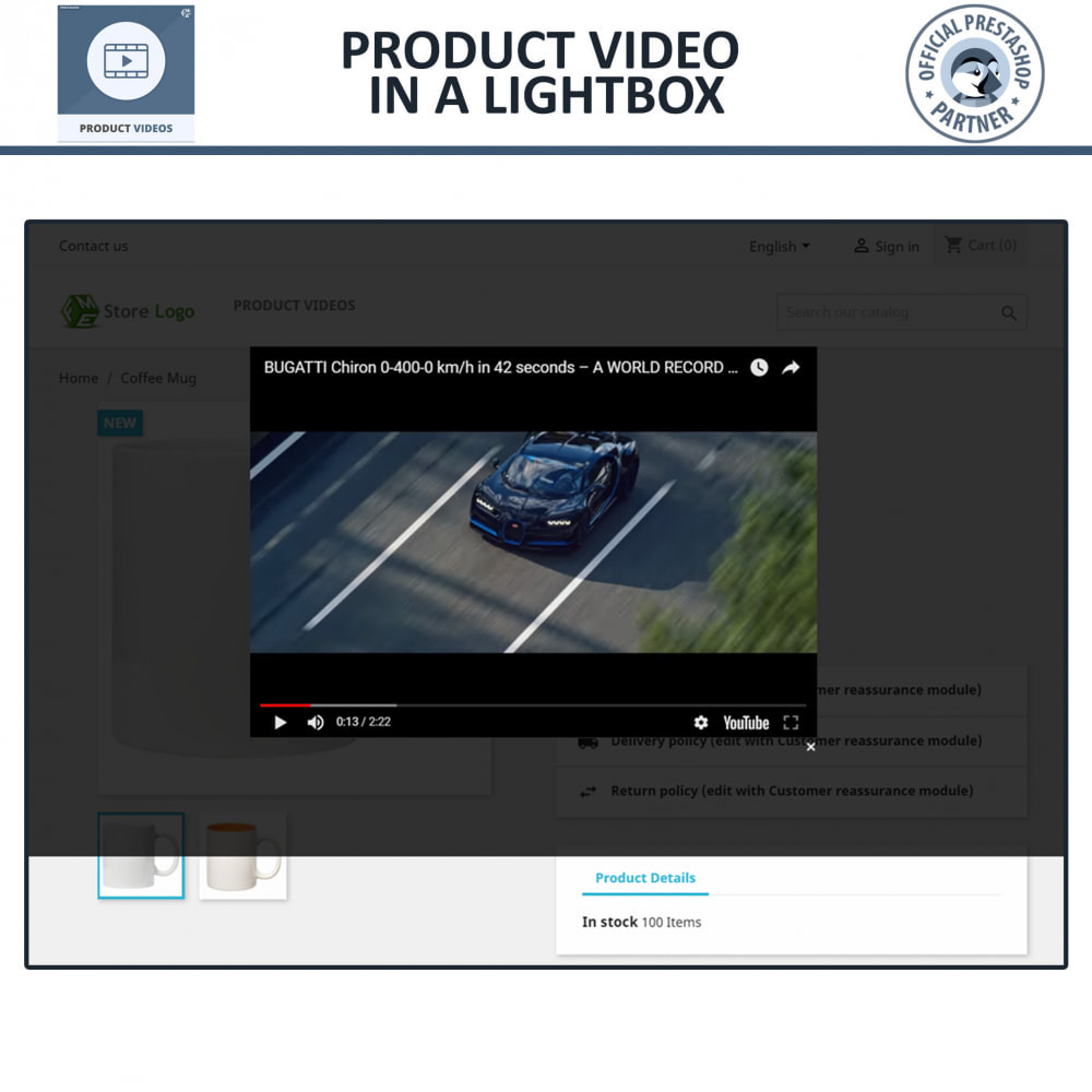 module - Videos & Music - Product Videos - YouTube, Vimeo   Upload or Embed - 5