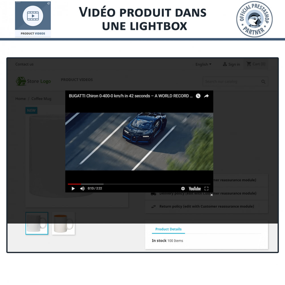 module - Vidéo & Musique - Product Videos - Upload or Embed YouTube, Vimeo - 5