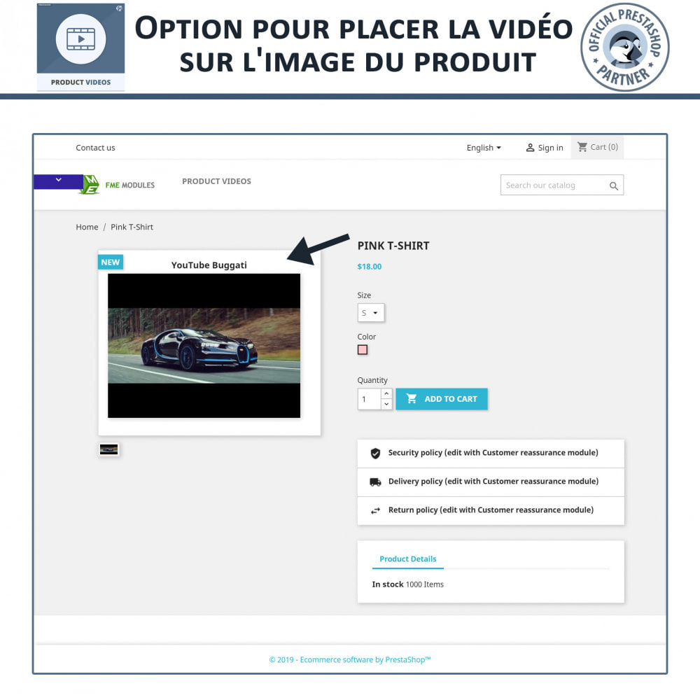 module - Vidéo & Musique - Product Videos - Upload or Embed YouTube, Vimeo - 3