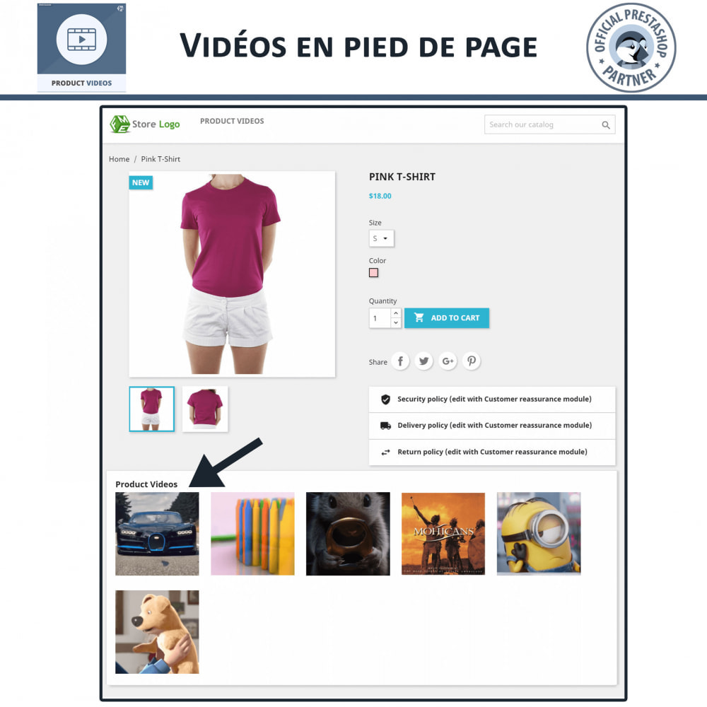 module - Vidéo & Musique - Product Videos - Upload or Embed YouTube, Vimeo - 6