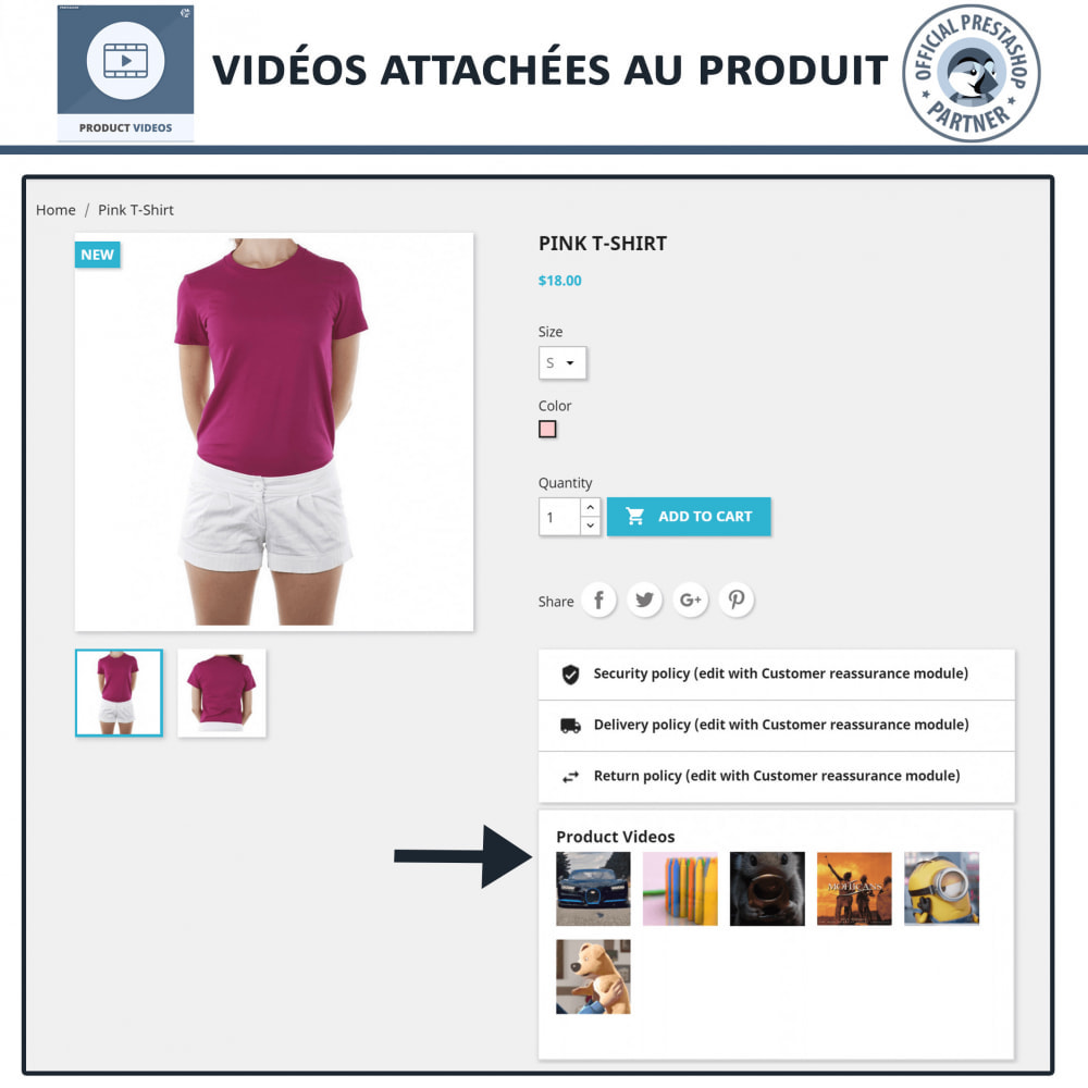 module - Vidéo & Musique - Product Videos - Upload or Embed YouTube, Vimeo - 7