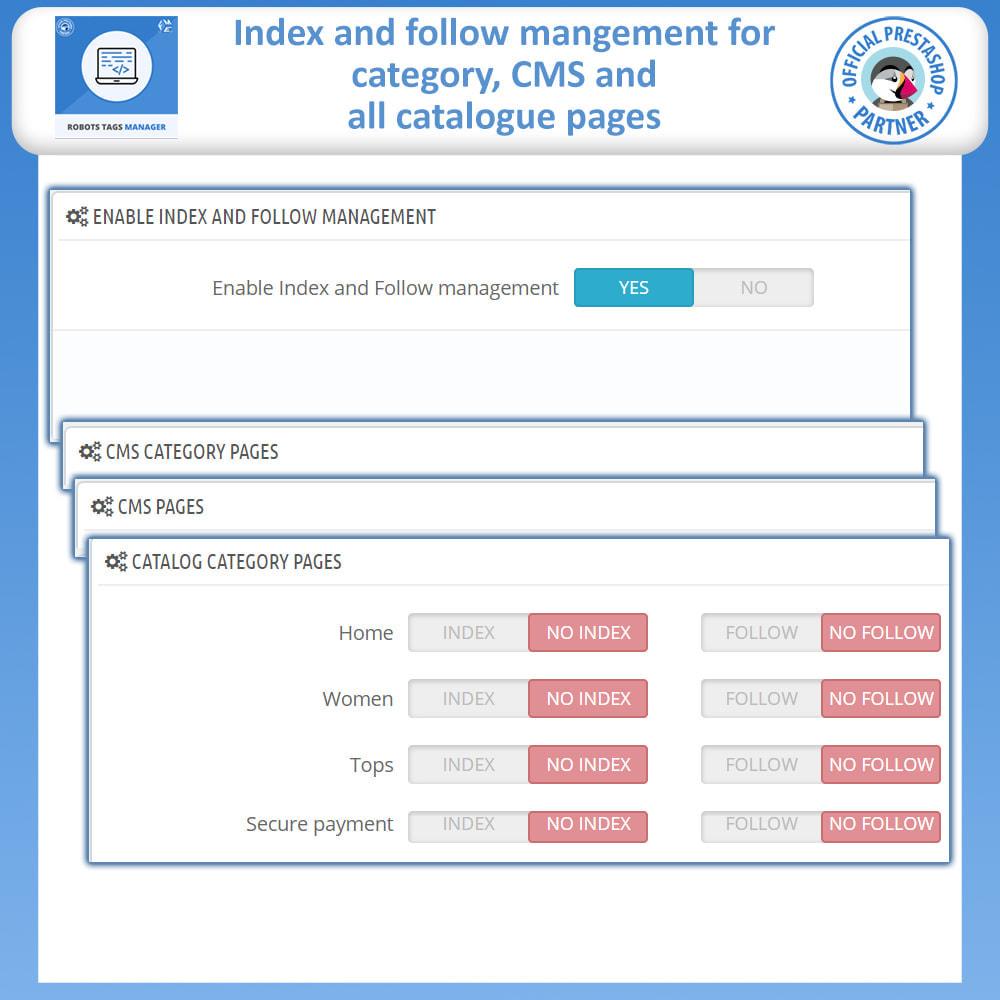 module - SEO - Meta Robot Tags - NoFollow NoIndex Manager - 2