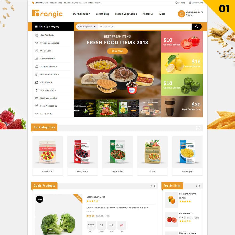 theme - Alimentation & Restauration - Orangic - Le magasin d'alimentation - 3