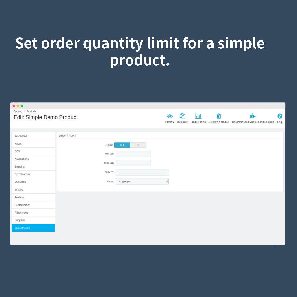 module - Anmeldung und Bestellvorgang - Order Quantity Limit - 4