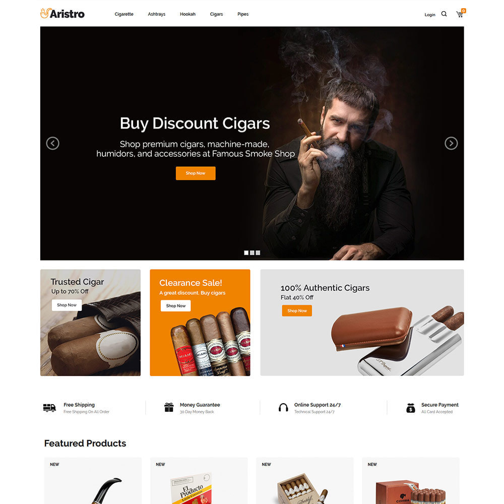 theme - Drink & Tobacco - Aristo  Drink - Tobacco Smoke Cigar  Store - 2