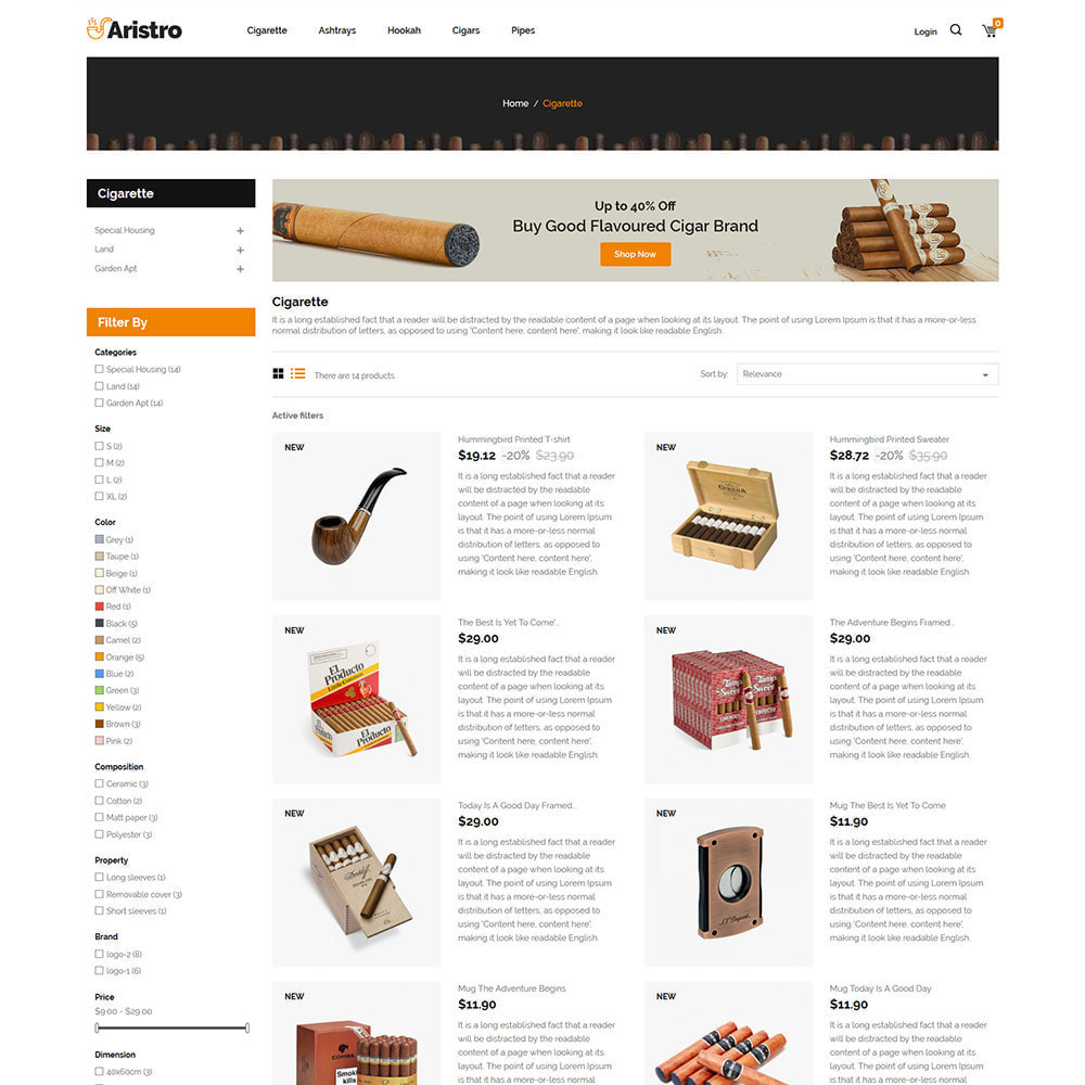 theme - Drink & Tobacco - Aristo  Drink - Tobacco Smoke Cigar  Store - 4