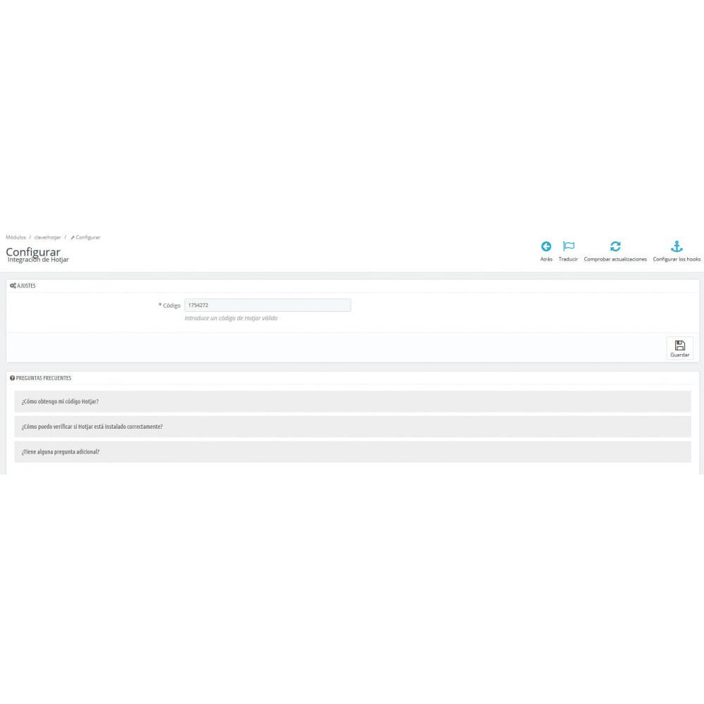 module - Informes y Estadísticas - Integración Hotjar - 2