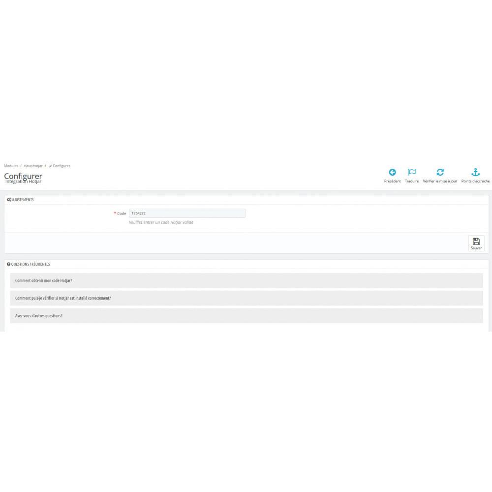 module - Analyses & Statistiques - Intégration Hotjar - 2