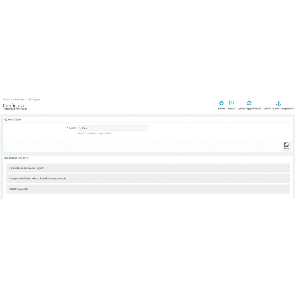 module - Analytics & Statistiche - Integrazione Hotjar - 2