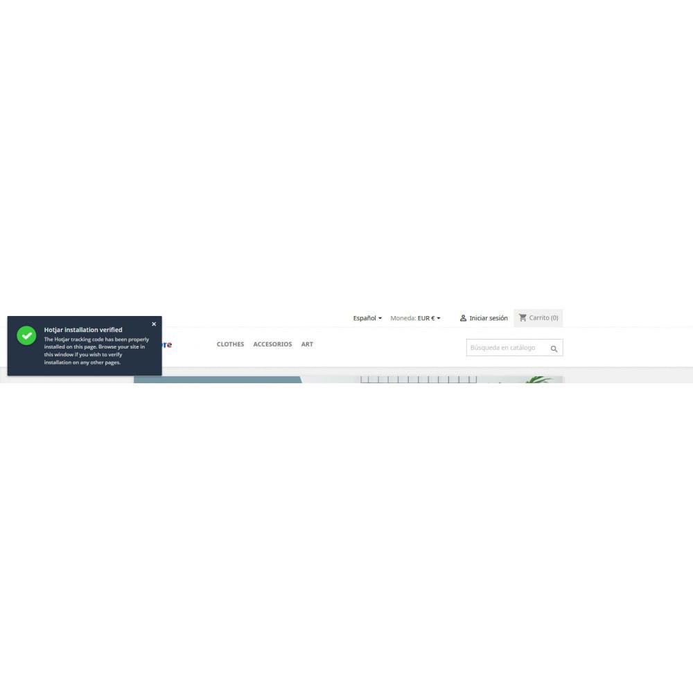 module - Análises & Estatísticas - Integração Hotjar - 3
