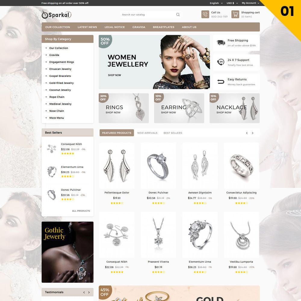 theme - Ювелирные изделия и Аксессуары - Sparkal - The Jewellery Shop - 3