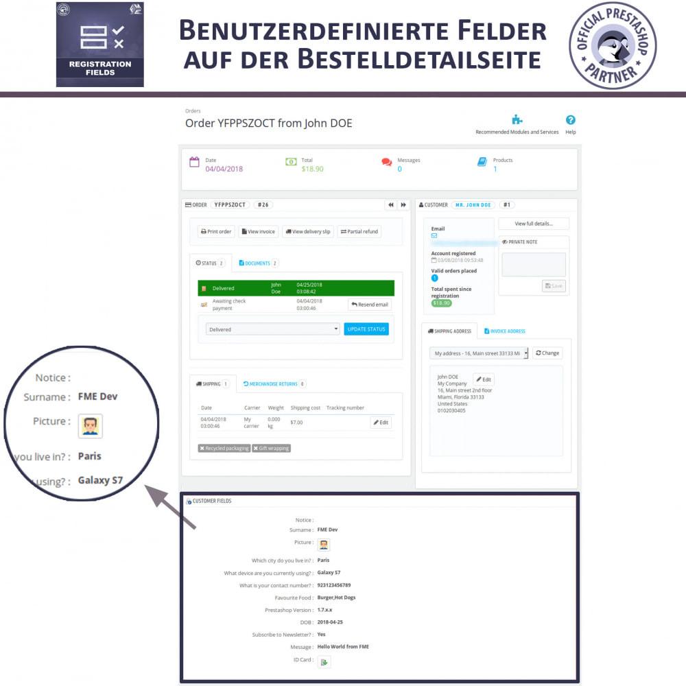 module - Anmeldung und Bestellvorgang - Registrierung Felder, Fügen Sie Kundenattribute - 5