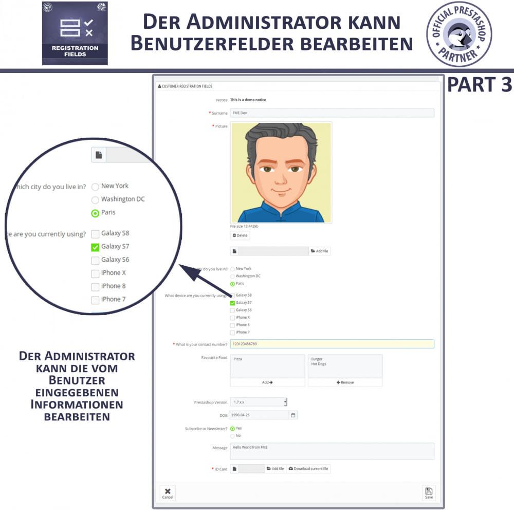 module - Anmeldung und Bestellvorgang - Registrierung Felder, Fügen Sie Kundenattribute - 9