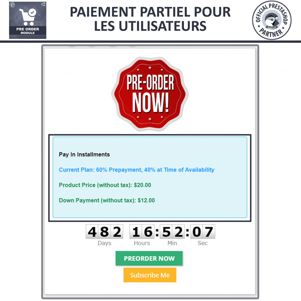 module - Inscription & Processus de commande - Pre-Order - Advance Booking | Out of Stock Selling - 5