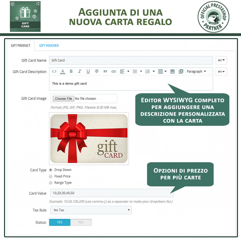 module - Whishlist & Gift Card - Gift Card - Gift Certificates & Vouchers - 11