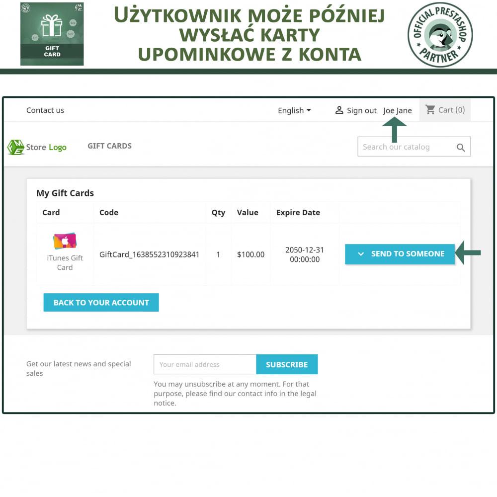 module - Lista życzeń & Karta podarunkowa - Karta Podarunkowa - 6