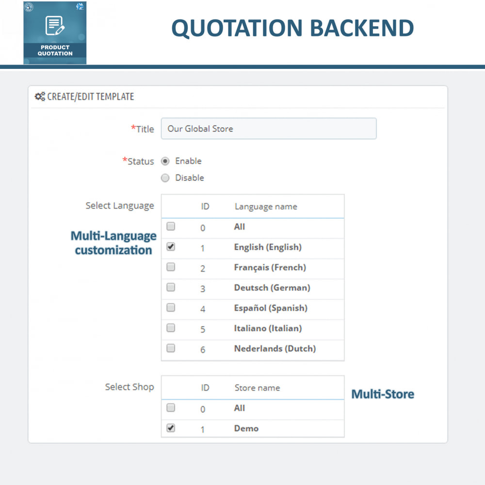 module - Quotes - Quotation - Allow Customer to Ask For Quote - 13