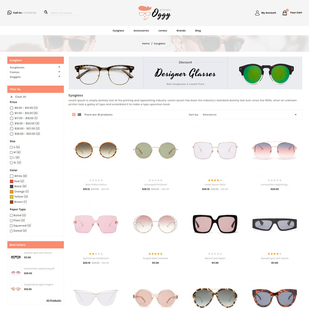 theme - Biżuteria & Akcesoria - Oggy - Opticals Shop - 3