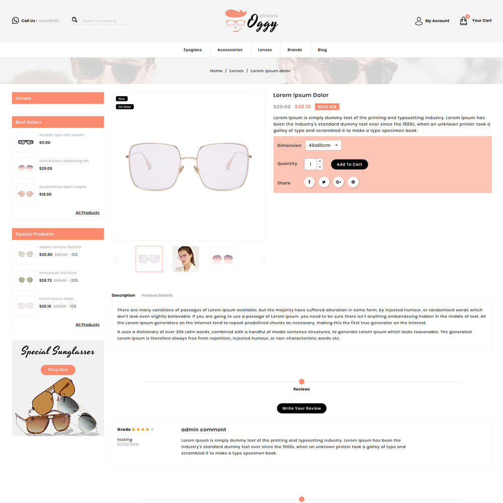 theme - Biżuteria & Akcesoria - Oggy - Opticals Shop - 4